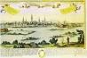 Friedrich Bernhard Werner 18. század első felében készült, Komáromot ábrázoló rézkarcán a Duna jobb partján egy több házból álló épületkomplexum látható