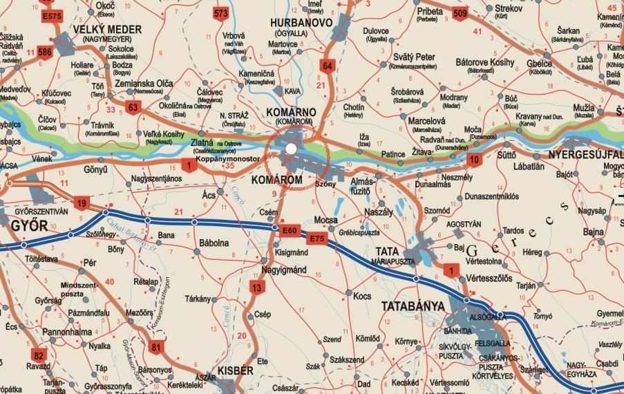 magyarország térkép komárom Komárom térképe magyarország térkép komárom